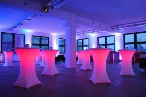 LED-Beleuchtung Für Stehtische, Inkl. Fernbedienung, [mieten]